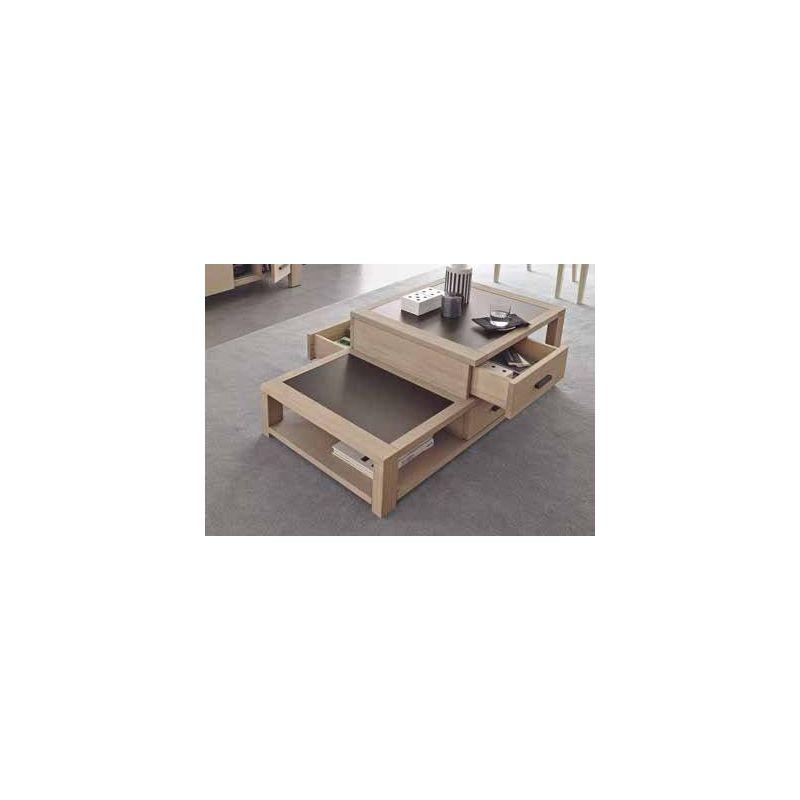 table basse en pin d 39 or gon et c ramique. Black Bedroom Furniture Sets. Home Design Ideas
