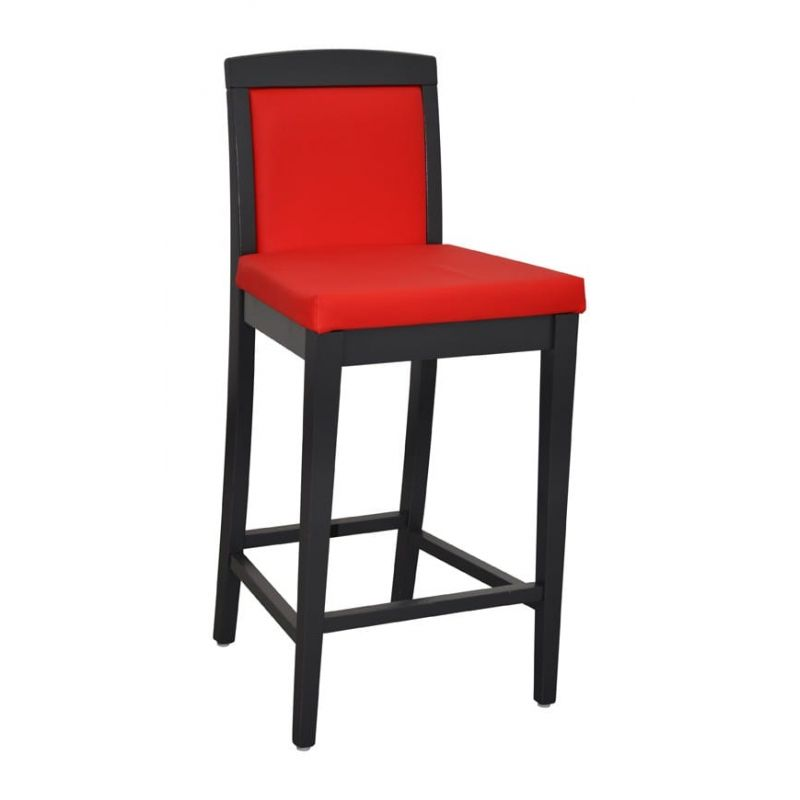 tabouret de bar 4 pieds en bois louis h90. Black Bedroom Furniture Sets. Home Design Ideas