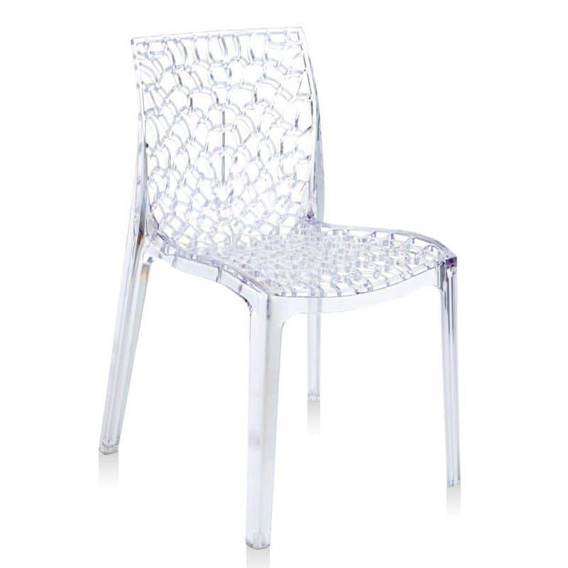 chaise gruvyer design polycarbonate transparent cristal. Black Bedroom Furniture Sets. Home Design Ideas
