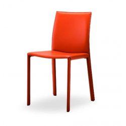 Chaise cuir véritable lisse IARA AIRNOVA