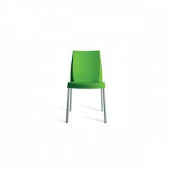 Chaise 4 pieds alu boulevard orange