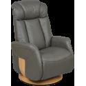 Fauteuil relax Bjorn cuir et microfibre Axel confort