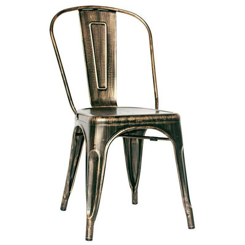 chaise acier vintage tolix. Black Bedroom Furniture Sets. Home Design Ideas