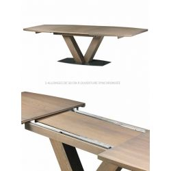 Table Mercier Oxalide socle métal dessus bois de fil PRIX LIVRE.