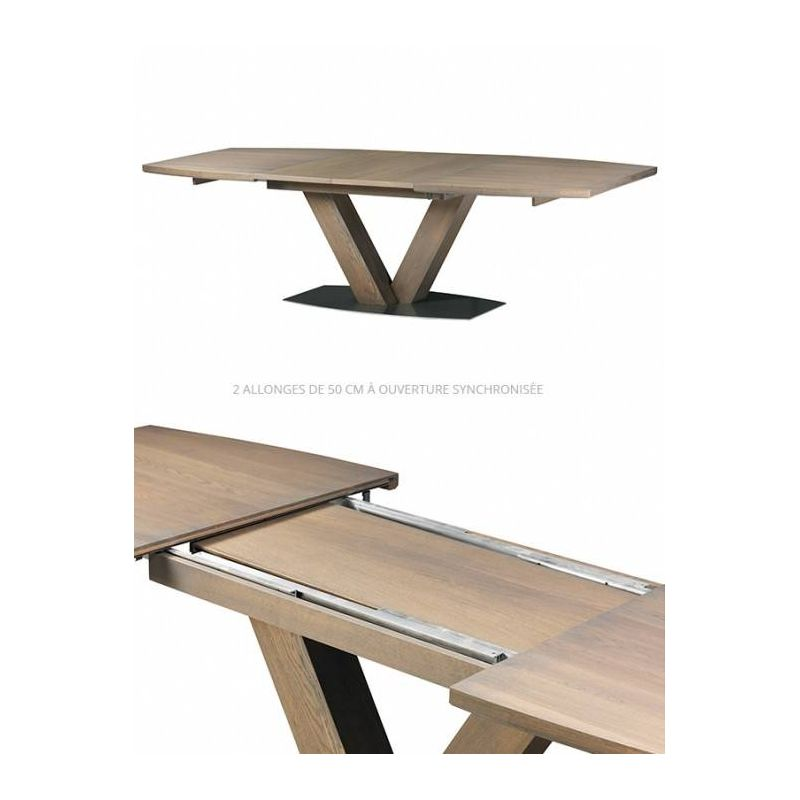 Table Mercier Chene Massif Oxaline