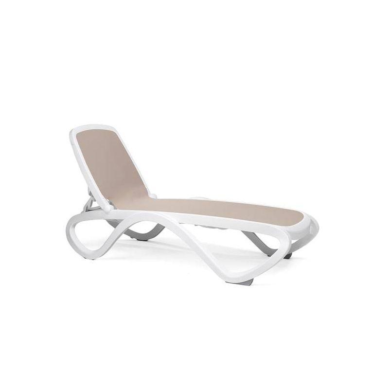 Bain de soleil omega nardi garden tortora trame tortora chaise design