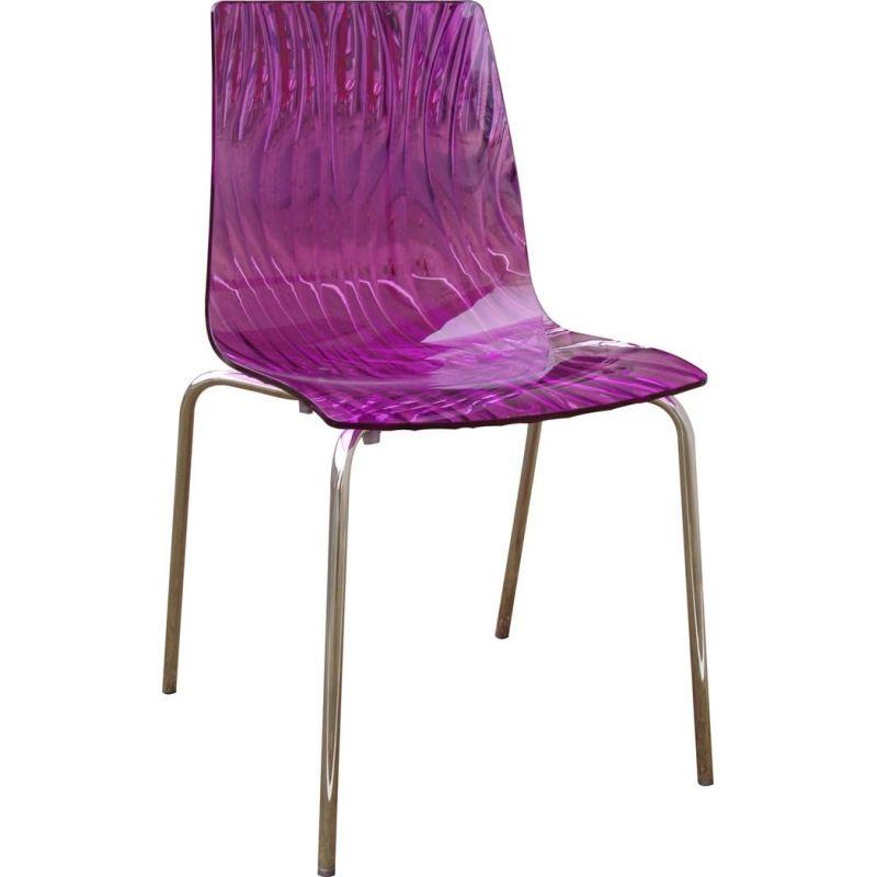 Chaise design caLima 4 pieds pourpre