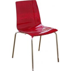 Chaise design caLima 4 pieds ruby