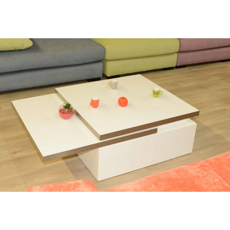 Table basse modulaire Sigma blanche