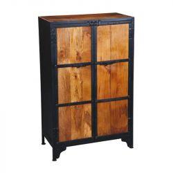 armoire acier bois jaipur