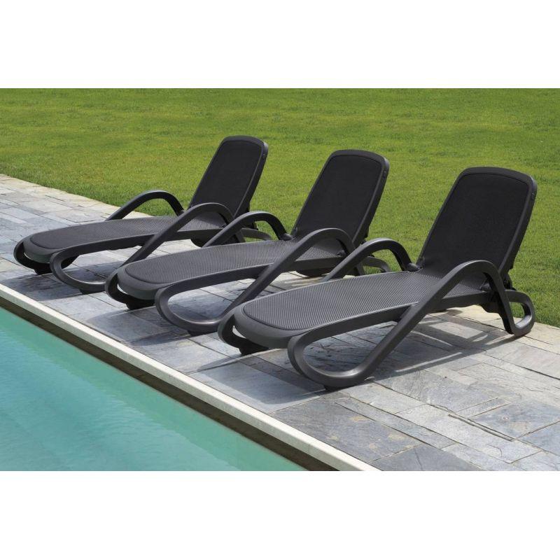Bain de soleil Alfa nardi garden blanc trame beige chaise design