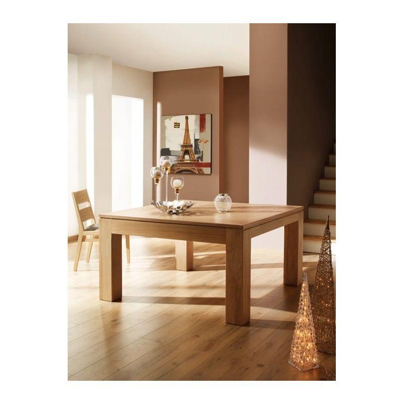 Table plateau chene pn69 jornalagora - Table carree 140x140 avec rallonges ...