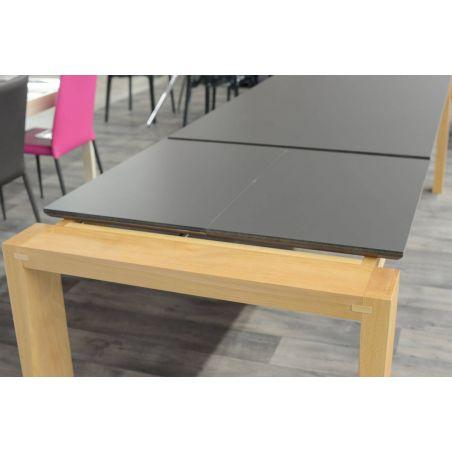 Table à manger oxford 2 bois massif dessus compact C30