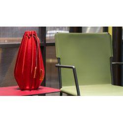 Vase en cuir plissé airnova  A5