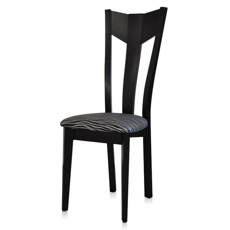 chaise bois contemporaine zebr. Black Bedroom Furniture Sets. Home Design Ideas