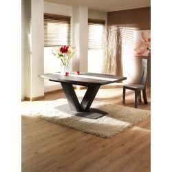Table Mercier Oxalide socle métal motif céramique droit ou vague PRIX LIVRE.