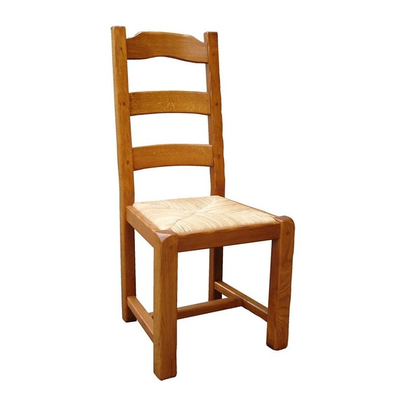 chaise rustique en ch ne massif. Black Bedroom Furniture Sets. Home Design Ideas
