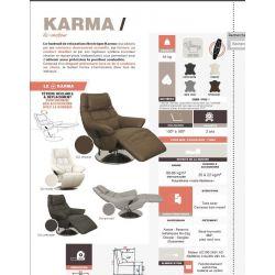 Fauteuil de relaxation KARMA centrelec