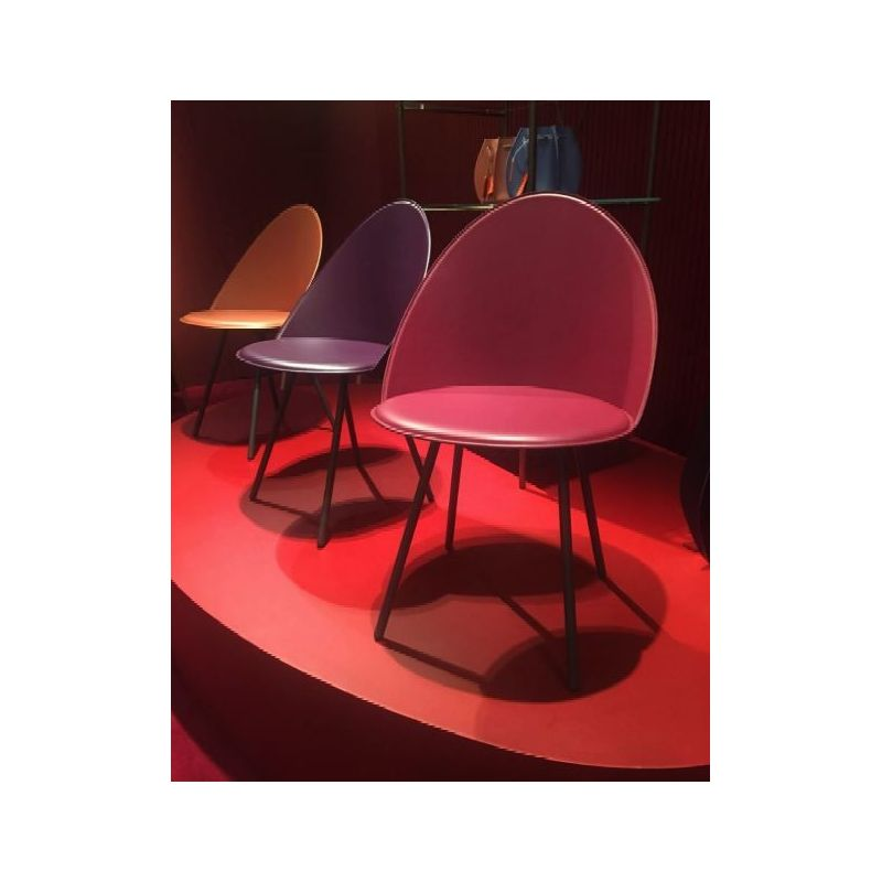 Chaise cuir c véritable lisse IRIS AIRNOVA A5