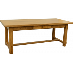 Table Basse Rustique Chene Massif