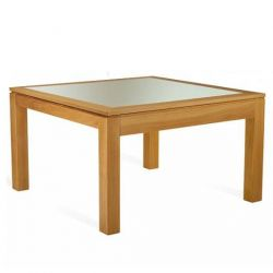 Table Mercier Curcuma verre ou ceram carre 130x130