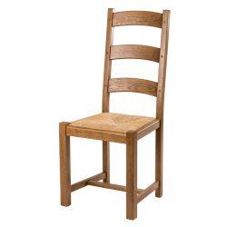 Chaise pieds chêne carrés...