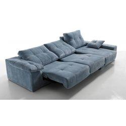 Canapé d'angle mauro 2 assises électriques