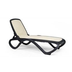 Bain de soleil omega nardi garden anthracite trame beige chaise design